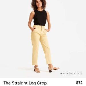 Everlane straight leg crop pants in size 4 tall!!